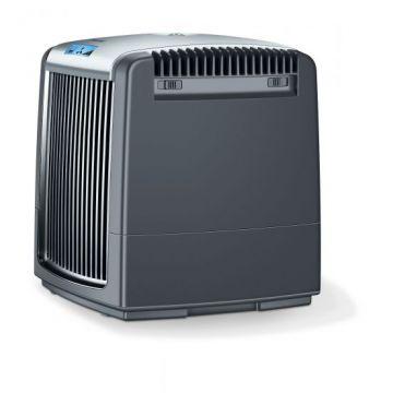 Beurer Пречиствател и овлажнител за въздух,  LCD дисплей, 3 степени, авт.изключване, подходящ: пречистване на въздух - за помещения до 20 m², овлажняване - до 40 m², резервоар 7,25 литра, авт. регулира влажността, Премахва вредните частици (прах, полени и