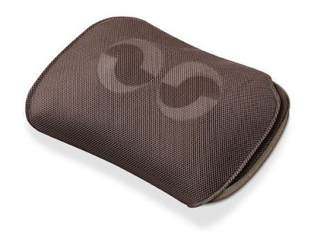 Beurer Възглавничка за Шиацу масаж, подходяща за масаж на гръб, врат, крака и рамене, 4 масажиращи глави, движения в различни посоки, подвижен калъф от дишаща материя подходящ за машинно прани при 30 градуса, Осветени копчета за управление и възможност за