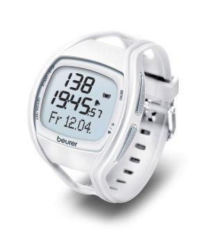 Beurer Дигитален часовник, Измерване пулса с прецизността на ЕКГ-апарат, отчитане на данни за изгорени калории и мазнини, водоустойчив