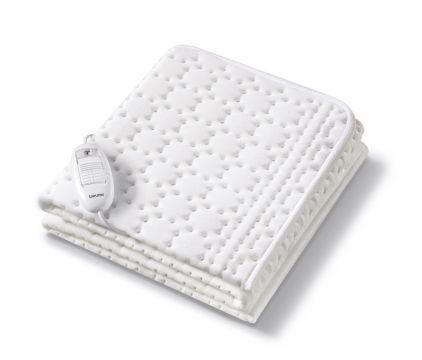 Beurer термоподложка за матрак 130х75см, 50W, дишаща, памучна повърхност, 3 степени на температурата, Патентована BSS® система защитаваща от прегряване, пране на ръка