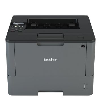 Laser Printer BROTHER HLL5100DN, 40 ppm, Built-in Wired Networking, Print from Smartphones&Tablets, Support for iPrint&Scan, Google Cloud Print, Mopria, AirPrint
