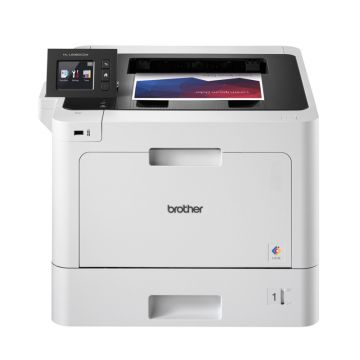 Color Laser Printer BROTHER HLL8360CDW, Wireless Colour Laser Printer, 31 ppm, Max paper input 2380 sheets, Optional Super high-yield Toner 9000 black&6500 colour, Integrated NFC Reader, Intuitive 6,8cm colour touchscreen