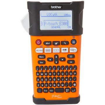 P-Touch BROTHER Labelling system PTE300VP, Handheld, QWERTY keyboard, TZe tapes 3,5 to 18 mm, Manual Cutter, Backlit LCD with label preview, High speed with barcode support