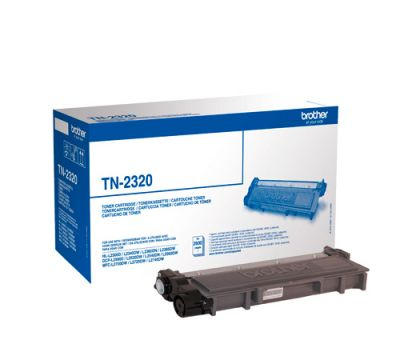 Toner Black High Yield Cartridge BROTHER 2600p. for HLL2300D, HLL2340DW, HLL2360DN, HLL2365DW, DCPL2500D, DCPL2520DW, DCPL2540DN, MFCL2700DW, MFCL2720DW, MFCL2740DW