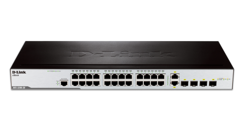 Комутатор D-Link DES-3200-28 24-port 10/100 Layer 2 Managed Switch + 2x Combo 10/100/1000Base-T/100/1000 SFP + 2x 100/1000 SFP