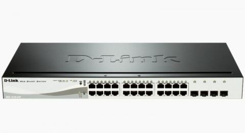 24-Port Gigabit PoE Smart Switch with 4 SFP ports