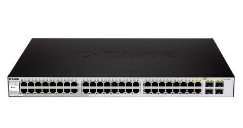 Суич D-Link DGS-1210-48 48-port 10/100/1000 Gigabit Smart Switch including 4 Combo 1000BaseT/SFP комутатор
