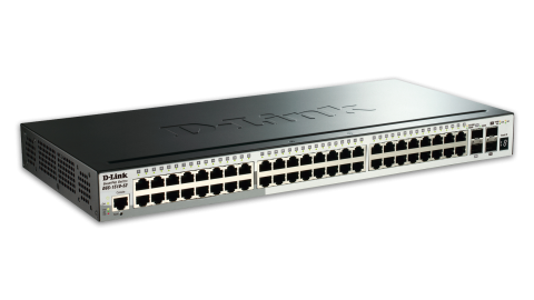 52-Port Gigabit Stackable SmartPro Switch including 2 SFP ports and 2 x 10G SFP+ ports