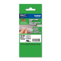TZ Security Tape BROTHER 18mm Black on White, 8m lenght for P-Touch