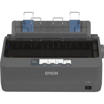 Dot Matrix Printer EPSON LX-350, 9 pins, 80 column, original + 4 copies, 347 cps HSD (10 cpi), Epson ESC/P - IBM 2380+ emulation, 3 fonts, 8 BarCode fonts, 3 paper paths, single and continous sheet, paper park, USB, Parallel and Serial I/F