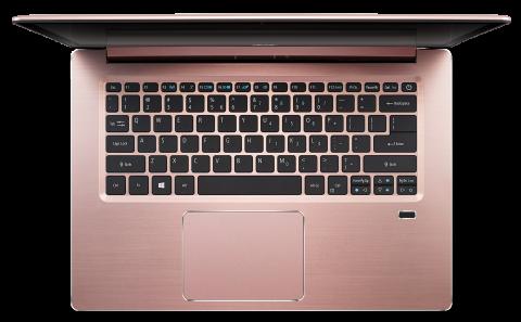 "WEEKLY PROMO! NB Acer Swift 3 SF314-52-38PW/14.0"" IPS Full HD 1920x1080 Corning® Gorilla® Glas / Intel® Core™ i3-7130U /1x8GB/ 256GB PCI-E SSD/ Intel HD Graphics 620/ Keyboard backlight/Finger Print/ Windows 10/ Мetallic body (Anodizing)/Pink (Rose Gold)"
