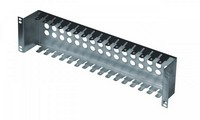 """19"""" patch panel for LSA-PLUS modules, height 2 1/2 U, 16 positions, zinc plating"""