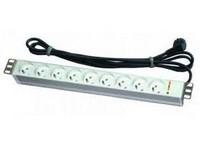 "19"" mounting 8-way socket panel - type UTE, switch"