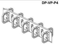 "19"" wire management panel 2U - both sides, plastic hooks 80 x 60 mm"