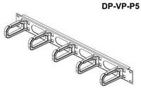 """19"""" Management Panel 1U, plastic hooks 40 x 80 mm"""