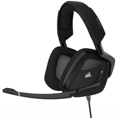 Слушалки с микрофон Corsair Gaming™ VOID PRO RGB USB Premium Gaming Headset with Dolby® Headphone 7.1 with 50mm Drivers, Carbon Black (EU Version)