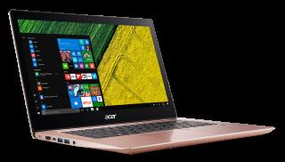 "WEEKLY PROMO! NB Acer Swift 3 SF314-52-3606/14.0"" IPS Full HD 1920x1080 Corning® Gorilla® Glas /Intel® Core™ i3-7130U/1x4GB/128GB PCI-E SSD/ Intel HD Graphics 620/ Keyboard backlight/Finger Print/ Windows 10/ Мetallic body (Anodizing)/ Pink (Rose Gold)"
