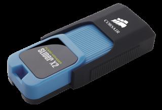 Флаш памет Corsair Voyager Slider X2 USB 3.0 16GB, Blue Housing, Read 200MBs - Write 50MBs, Capless Design, Plug and Play