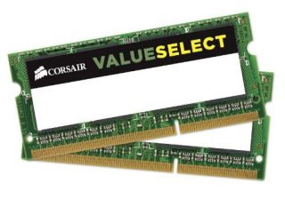 Памет Corsair DDR3, 1333MHz 4GB (2X2GB) 2x204 SODIMM, Unbuffered
