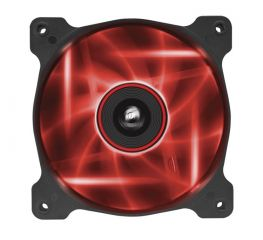 Вентилатор за кутия Corsair Air Series AF120 LED Quiet Edition High Airflow Fan, 120mm x 25mm,  Single Pack, Red