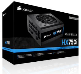 Захранване Corsair PSU Corsair HX Series 750 Watt 80+ Platinum, Fully Modular, EU Version (10 years warranty)