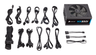 Захранване Corsair PSU Corsair HX Series 850 Watt 80+ Platinum, Fully Modular, EU Version (10 years warranty)