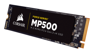 SSD Corsair Force MP500 series NVMe (PCIe Slot) M.2 SSD 960GB; Up to 3,000MB/s Sequential Read, Up to 2,300MB/s Sequential Write; Up to 260K IOPS Random Read, Up to 230K IOPS Random Write, Compatible with Lenovo Legion Y520/Y720/Y920