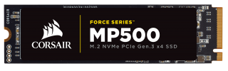 SSD Corsair Force MP500 series NVMe (PCIe Slot) M.2 2280 SSD 960GB; Up to 3,000MB/s Sequential Read, Up to 2,300MB/s Sequential Write; Up to 260K IOPS Random Read, Up to 230K IOPS Random Write, Compatible with Lenovo Legion Y520/Y720/Y920