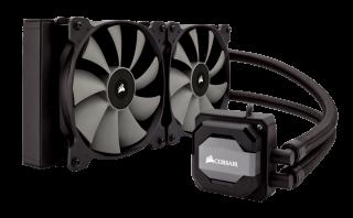 Водно охлаждане за процесор Corsair Hydro Series H110i, Compatible with Intel (LGA1150/1155/1156, 1366, 2011/ 2011-3) and AMD (AM2/AM3/AM4,, FM1/FM2), 280mm radiator and dual SP140L, Extreme Performance Liquid CPU Cooler