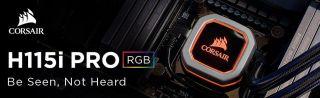 Водно охлаждане за процесор Corsair Hydro Series H115i PRO, Compatible with Intel (115x, Intel 2011/2066) and AMD (AM3/AM2, AMD AM4), 280mm Radiator, Advanced RGB Lighting and Fan Control with Software, Liquid CPU Cooler