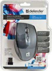 Defender Безжична лазерна мишка Wireless IR-laser Pulsar MM-655 Nano, 2,4 GHz, 4 + scroll buttons, 1000-2000dpi, Grey