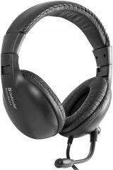 Defender Стерео слушалки с микрофон Bravo HN-015, Дължина на кабела: 2.1м; 2 x 3.5мм конектор, черни