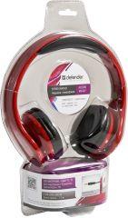 Defender Слушалки Accord HN-047,Red - слушалки с регулируема лента за глава; Дължина на кабела: 1,2м; 3,5мм конектор