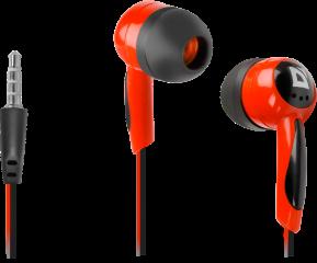 Defender Слушалки за поставяне в ушите Basic 604 Black + red