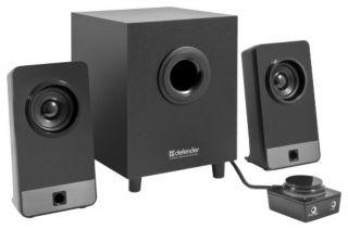 Колонки Defender 2.1 Speaker system I-WAVE S16 16W(2x4W + Субуфер 8W), Дървени със субуфер, 220V, 3.5 mm конектор