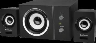 Колонки Defender 2.1 Speaker system V9 11W(2x3W + Субуфер 5W), USB, 5V, Пластмаса, със субуфер ( с Дървен корпус), черни