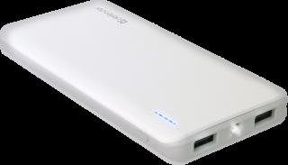 Defender Power bank Tesla 10000 Li-pol, 2 x USB, 10000mAh, 5V, 2A, USB 1-1A, USB 2-2A