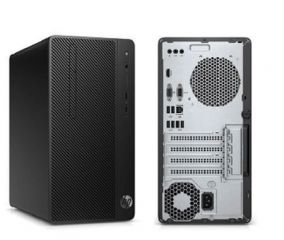 HP Desktop Pro A MT AMD Ryzen™ 2200G Quad-Core with Radeon™ Vega 8 Graphics (3.5 GHz base frequency, up to 3.7 GHz burst frequency, 6 MB cache) 4 GB DDR4-2666 SDRAM (1 X 4 GB) 1 TB 7200 rpm SATA HDD DVD/RW FREE DOS,1 Year warranty