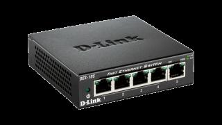 Комутатор  D-Link DES-105/E  5-Port  10/100 Fast Ethernet Metal Housing Unmanaged Switch