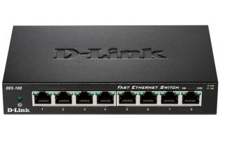 8-Port  10/100 Fast Ethernet Metal Housing Unmanaged Switch
