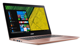 "NB Acer Swift 3 SF314-52-52Y2/14.0"" IPS Full HD 1920x1080 Corning® Gorilla® Glass/ Intel® Core™ i5-8250U/1x8GB/ 256GB PCI-E SSD/Intel HD Graphics 620/ Keyboard backlight/Finger Print/Windows 10/Мetallic body (Anodizing) Salmon Pink (Rose Gold)"
