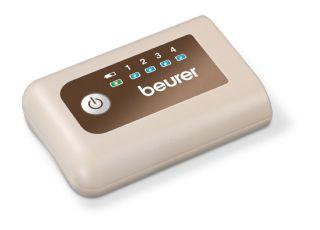 Beurer Термоколан, Li-Ion акумулаторна батерия - до 4 часа работа, Тънък дизайн, идеален за носене под дрехите, 4 степени на температурата, подходящ за корема и гърба, LED дисплеи, авт.изключване, подвижна повърхност подходяща за машинно пране до 30 граду