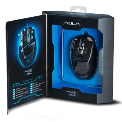 Mишка AULA SI-928 Killing The Soul Expert Gaming mouse Optical, Adjustable DPI 800/1200/1600/2000, infrared, 7 Buttons, 500-1000Hz return rate, двоен режим на работа, бързи бутони, позлатен USB,wired, Black