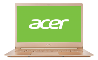 "WEEKLY PROMO! NB Acer Swift 5 SF514-52T-86QV/GOLD/14.0"" IPS Full HD 1920x1080 (Multi-Touch) Corning® Gorilla® Glass/Intel® Core™ i7-8550U/1x8GB DDRIII/256GB PCI-E SSD/Intel HD Graphics 620/Keyboard backlight/Finger Print/Windows 10/ Мetallic body (Anodizi"