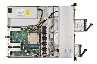 Сървър Fujitsu Primergy RX1330 M3, 1 x Intel Xeon 4Core E3-1220v6 72W 3.0GHz/2400MHz 8MB; 8GB DDR4-2400 UDIMM; HDD 2 x 1TB SATA II 7.2k non hot plug, up to 4; Integrated RAID 0,1,10, 1x300W Standard Power Supply, DVD-RW SuperMulti, 2xGigabit Ethernet, 1 y