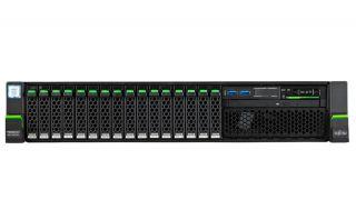 "Сървър Fujitsu Primergy RX2540 M4, 1 x Intel Xeon Silver 4110 8Core 85W 2.1GHz/2400MHz 11MB; 16GB DDR4-2666 ECC RDIMM; 2 x 1.2TB 10k SAS, OpenBay 2.5"" hot plug, up to 8; PRAID EP420i 0,1,10,5,50,6,60, 2GB Cache; 2x800W Redundant Power Supply, 4xGigabit Et"