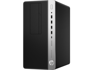 HP ProDesk  600 MT G3, Intel® Core™ i5-7500 with Intel HD Graphics 630 (3.4 GHz, up to 3.8 GHz with Intel Turbo Boost, 6 MB cache, 4 cores), 4 GB DDR4-2400 SDRAM (1 x 4 GB), 500 GB 7200 rpm SATA, TPM 2.0, SD 4 card reader, USB 3.1, RG-45, VGA,DP,Win Pro 1