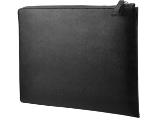 HP Elite13.3 Blk Leather Sleeve