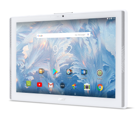 """Tablet Acer Iconia B3-A42-K8B6 (White) 4G LTE™/10.1"""" WXGA IPS HD (1280x800)/MTK MT8735 quad-core Cortex A53 1.3 GHz/1x2GB LPDDR3, 16GB eMMC/Cam (2MP front), rear 5 MP (2560 x 1920) 1080p FHD/ G-sensor, Micro USB, microSD™/2-cell battery/Android™ 7.0 (Noug"""