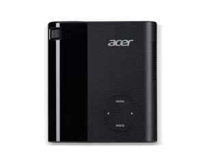 Projector Acer C200 LED (Black), Resolution: WVGA (854x480), max. WXGA (1280x800), Format: 16:9, Contrast: 1 000:1, Brightness: 200Lm, Ultra-light and portable 350 g, Black, EURO/UK/Swiss EMEA